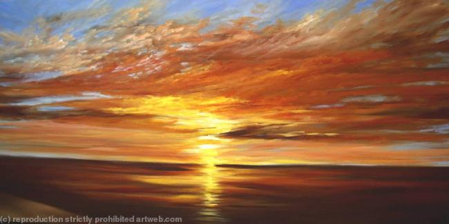 Commission Sunset Painting By Wendy Puerto