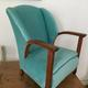 Art Deco velvet chair