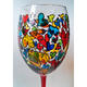 Artist Hand Painted Glass with Topsy Turvy Heart Design