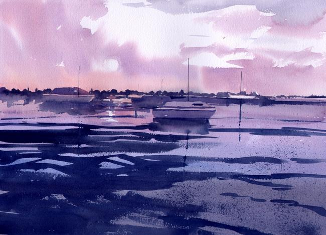 Twilight watercolour on Arches 51x41cm