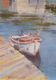 White moored boat (5x7x0.1')