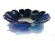 Blue green irregular bowl