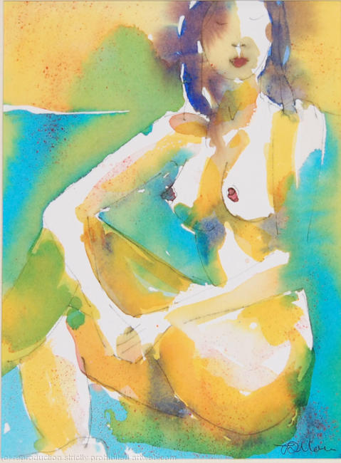 Seated nude 2 watercolour/ink on watercolour paper 13x18cm