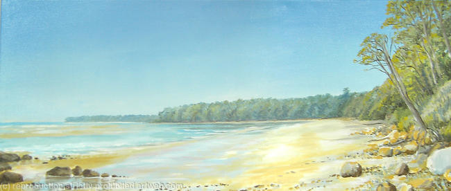 Priory Bay acrylic 102x41cm